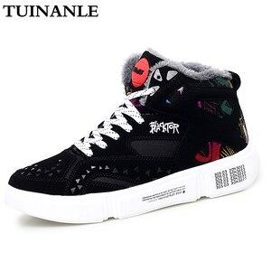 Image 2 - TUINANLE גבוהה למעלה נעלי חורף חם קטיפה נשים נעלי גרפיטי פלטפורמת סניקרס לבן מאהב נעלי גודל 11 Zapatos De Mujer