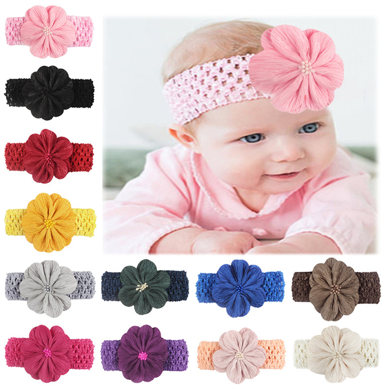 Kids Elastic Girl  Infant  Hairband Headwrap Flower Headwear Baby Headband