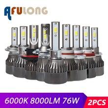 2 個 6000 18K H7 led h4 H1 H8 HB4 H11 H3 HB3 LED Canbus 9005 9006 H13 H9 9004 9007 車のヘッドライトの球根 72 ワット 8000LM 12V Led ライト
