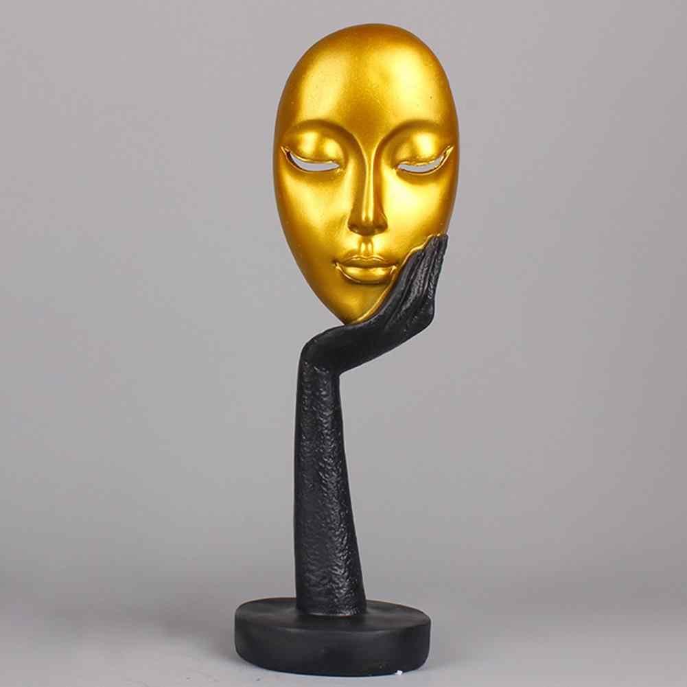 Soyut insan yüzü modeli heykeli reçine heykeller dekorasyon için heykeller sanat el sanatları masaüstü heykel ofis ev dekor hediye