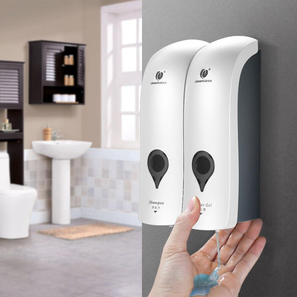 H585e251262004aa89ad6a57ffd4a65e7w 300ml Liquid Soap Dispenser Kitchen Soap Dispenser Pump Wall Mounted Bathroom Shower Liquid Sanitizer Hand Touch Soap Dispenser