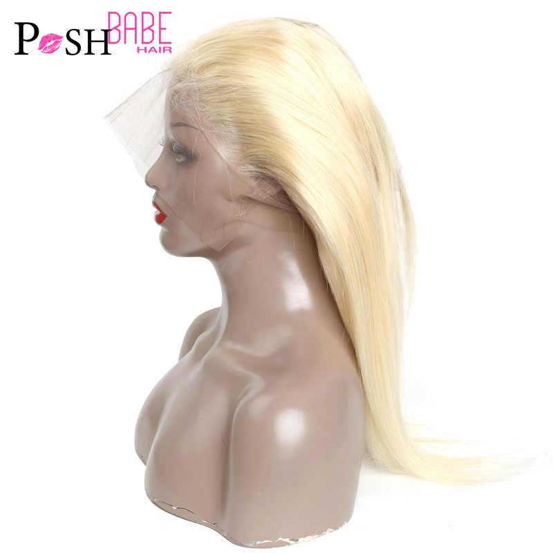 8-34 36 38 40 Inch 613 Blonde Bundel Met 360 Frontale Remy Rechte Menselijk Haar Bundel Met Sluiting braziliaanse Haar Weefsel Bundel