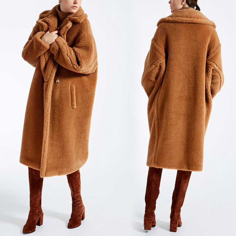 Faux Fur Coat Women 2019 Casual Furry Plus Size Thick Warm Jacket Long Faux Fur Teddy Coat Winter Coat Women Casaco Feminino