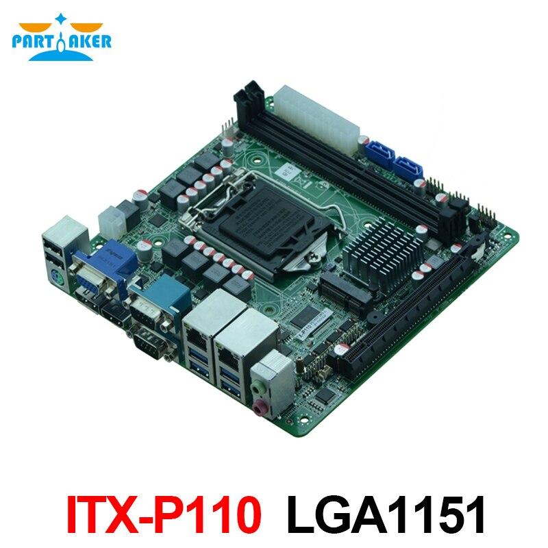 Partaker ITX-P110 Dual LAN DDR4 4 USB3.0 Industrial Mainboard Mini ITX Motherboard LGA1151