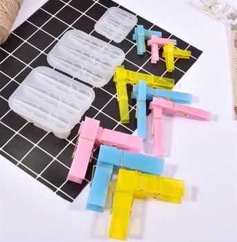 Pinzas colgantes para ropa DIY, molde de resina epoxi UV, Mini Clips...
