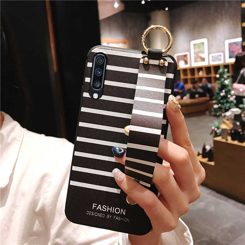 SoCouple Cinturino Da Polso Cassa Del Telefono Per Samsung Galaxy S9 S8 S10 Più A70 A30 A40 A50 A10 A20 A7 2018 nota 8 9 10 più il Caso Molle di TPU