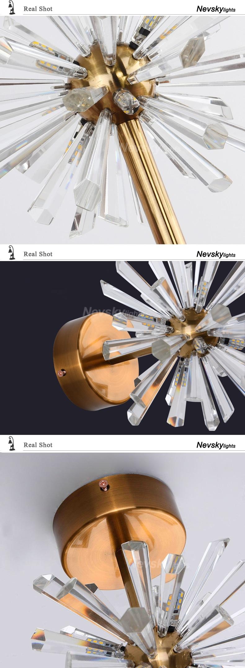 Luminária de cristal para teto, lustre moderno