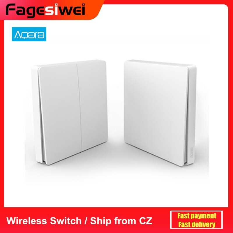 Aqara Wall Switch Smart Light Control Smart Switch Wifi 2.4GHz Wireless Double Key Remote Control Work With Mi Home App