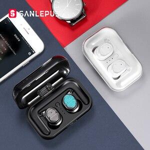 Image 1 - SANLEPUS tws 이어폰 무선 헤드폰 블루투스 이어폰 스포츠 헤드셋 에어 이어폰 (마이크 포함) 샤오미 Android