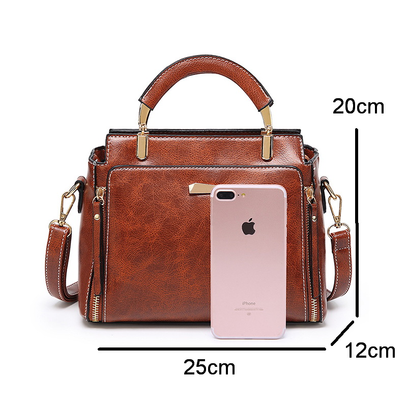 FUNMARDI Fashion Small Flap Bags For Women Handbag Double Zipper Designer Crossbody Bags Women Vintage Shoulder Bags WLHB2018 in Top Handle Bags from Luggage Bags