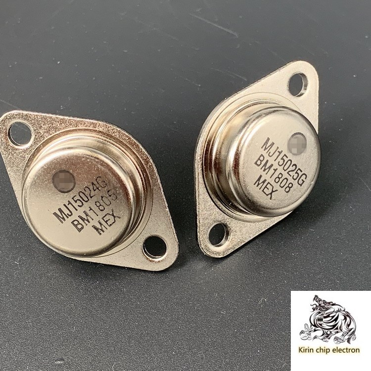 1PCS/LOT (1 Pair) Brand New MJ15024G MJ15025G Gold-sealed Audio-to-tube Iron Cap High-power Triple Tube 16A250V
