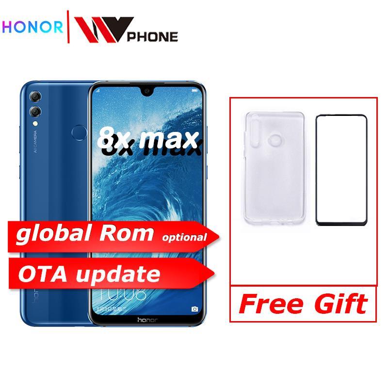 Honor 8X Max 7.12 ''grand écran OTA mise à jour Smartphone double caméra Android 8.1 Octa Core 4900mAh batterie empreinte digitale ID
