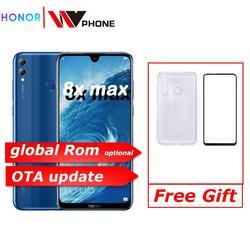 Honor 8x max 7.12 id update tela grande ota atualização smartphone câmera dupla android 8.1 octa núcleo 4900 mah bateria impressão digital id