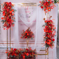 SPR wedding occasion flower wall stage backdrop artificial flower table runner arch floral decorative wholesale