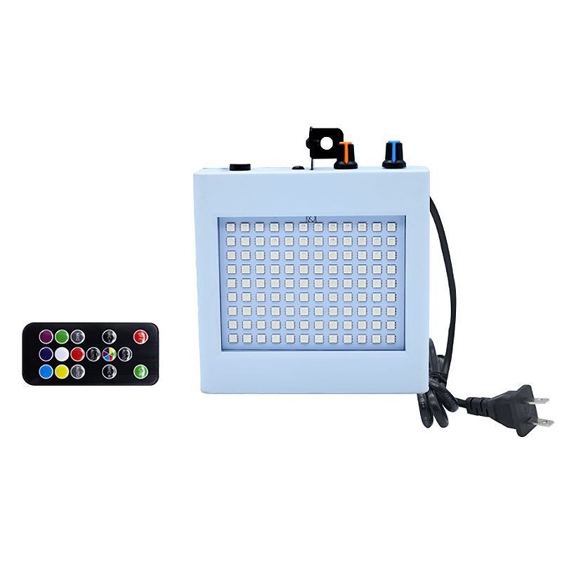 108 Led Hybrid Stage Light Remote Control Sound Activates Disco Lights For Holiday Party Lights Wedding Ktv Strobe Lights(Us Plu