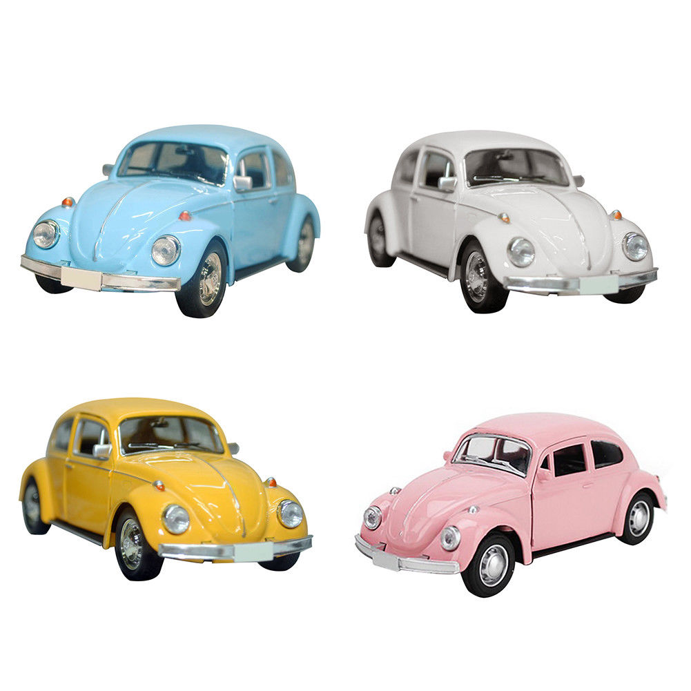 Vintage Beetle Diecast Pull Back Car Model Toy For Children Gift Decor Cute Figurines