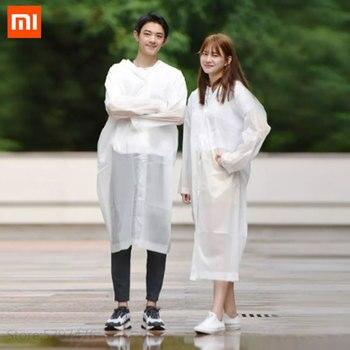 Xiaomi Qualitell Raincoat Adult Men Women Outdoor RainCoat Travel Foldable Windproof Transparent Rainwear