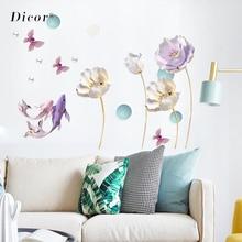 Креативная Скульптура Искусственный Лотос Наклейка на стену цветок гостиная спальня роскошный дизайн обои ПВХ Съемный росписи