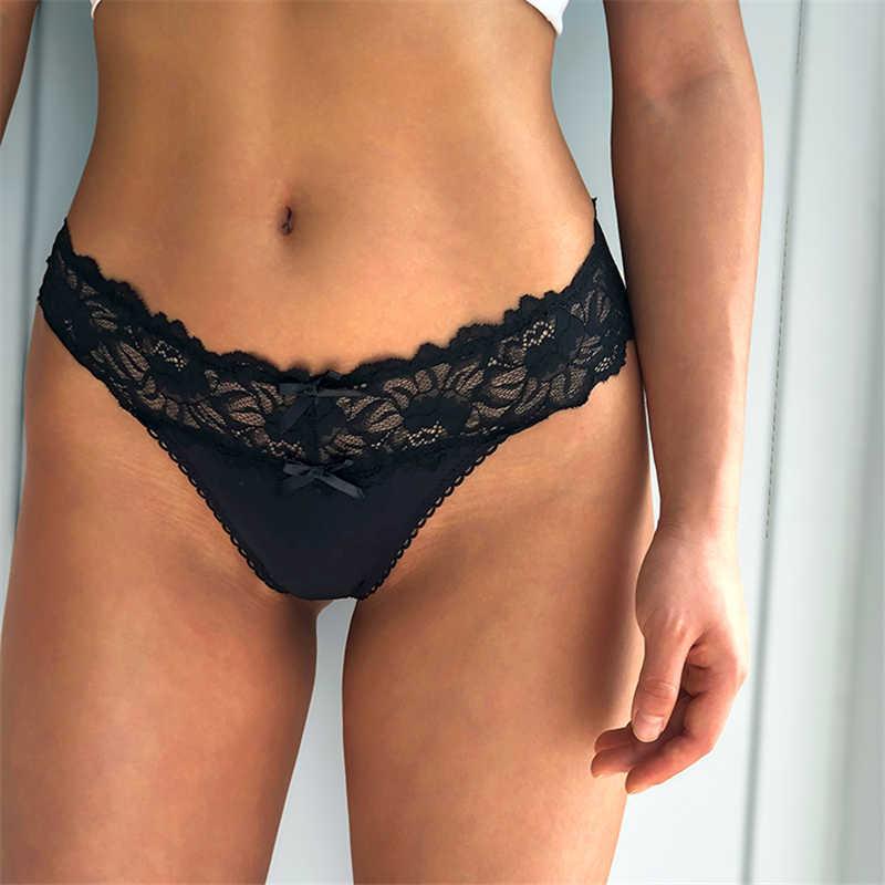 Kadınlar seksi dantel tanga Hipster külot kadın iç çamaşırı t-geri dize dantel intimates Lingerie düşük bel seks tanga G dize
