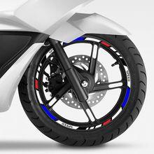 Светоотражающая лента для колес, наклейки на колеса мотоцикла и велосипеда для Honda KTM YAMAHA, 10 дюймов, 12 дюймов, 14 дюймов