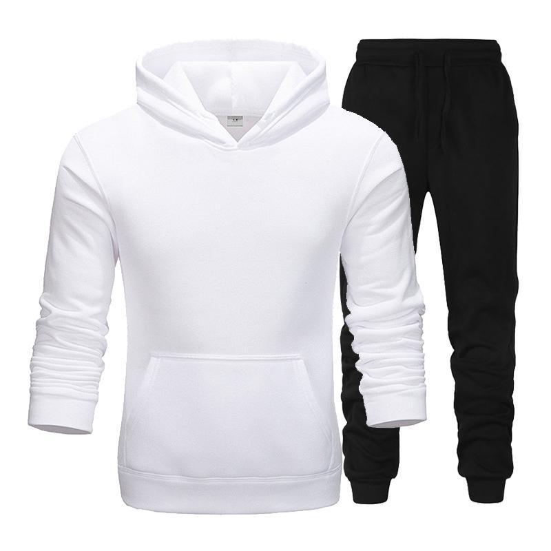 Neue Marke Kleidung Mnner Pullover Pullover  Hoodie Zwei Stcke + Hosen Sport Shirts Herbst Winter Track