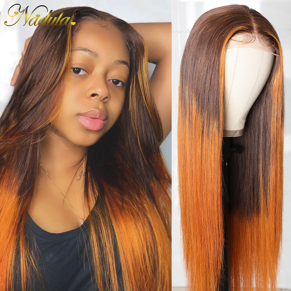 Nadula Hair Lace Front Wig Straight Hair T Part Lace Wig  4X1 T Part Wigs   Lace Wig 150% Prepluck 1