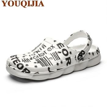 2020 Hot Hole Breathable Sandals Male Men New crocse Clogs Hombre Sandles Mens Summer Shoes Slippers