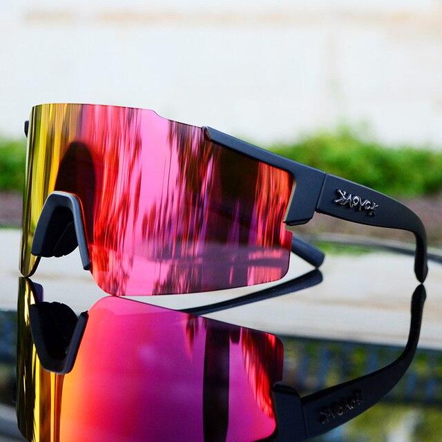 Cycling Glasses Men&Women Road Bike Sunglasses Sport Riding Running Eyewear Goggles Bicycle Glasses Mtb Fietsbril for Running 1