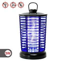 Przenośne urządzenie przeciw komarom 3W lampa przeciw komarom przeciw komarom lampa Led Bug do zabijania owadów odstraszacz światła w Środki odstraszające od Dom i ogród na