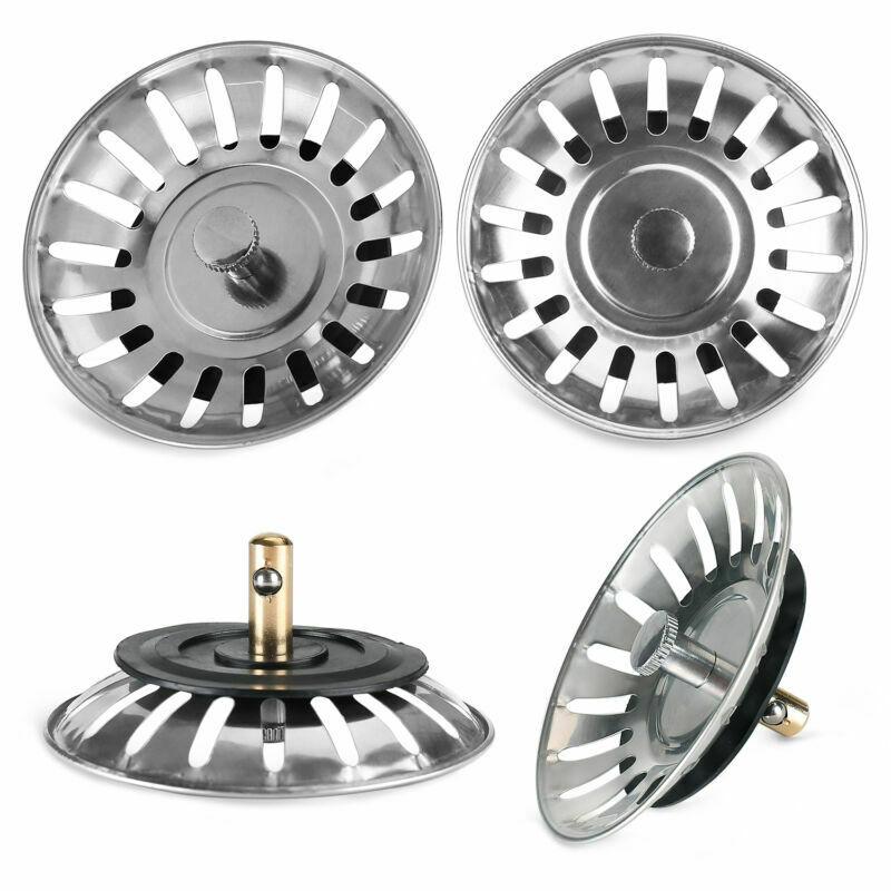 1pc Kitchen Sink Strainer Stopper Stainless Steel Waste Plug Sink Filter Filtre Lavabo Bathroom Hair Catcher Kitchen Accessories