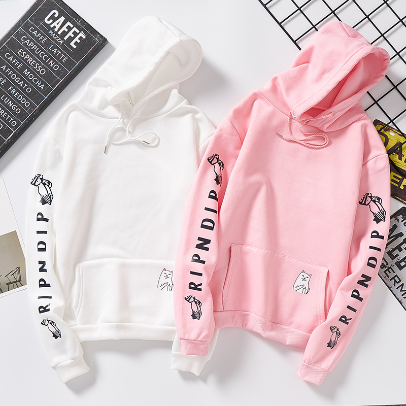 Autumn Winter Women's Sweatshirt Letter Print Long Sleeve O-neck Cute Hoodie Sweatshirt For Women Girls Kawaii Couples Clothes