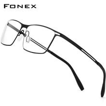Eyeglasses-Frame Screwless Eyewear Prescription Fonex Titanium Full-Myopia Ultralight