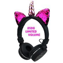 ילדים אוזניות אלחוטי Bluetooth חדי קרן אוזניות סטריאו מוסיקה Stretchable קריקטורה חתול אוזן אוזניות לילדים מבוגרים מתנות