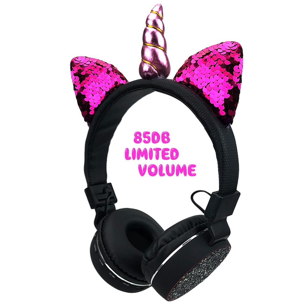 Kinder Kopfhörer Drahtlose Bluetooth <font><b>Unicorns</b></font> Headset Stereo Musik Dehnbar Cartoon Katze Ohr Kopfhörer für Kinder Erwachsene Geschenke image