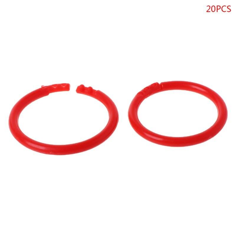 20pcs 35mm Creative Plastic Circle Multi-Functional Loose Leaf Ring Binder Hoop For DIY Photo Scrapbook Album Book Office