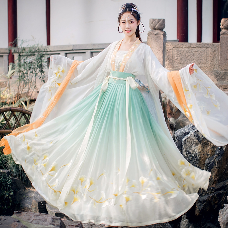 2020 Chinese Traditional Hanfu Cosplay Costume Ancient Han Dynasty Women Stage Show Dress Chinese Folk Dance Outfit Hanfu Set