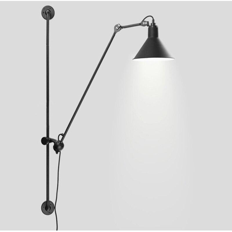 Lampe de mur Led rotative industrielle rétro américaine grande taille 120cm peinture applique murale en métal Led Bing vision pour éclairage intérieur