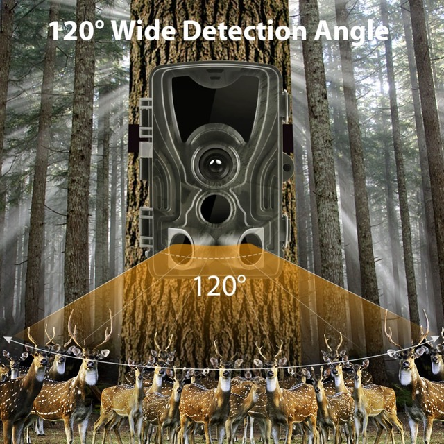 HC801 Hunting Trail Camera 20MP 1080P Night Version Invisible Infrared LED Wild Cameras 0.3s Trigger Surveillance Photo Traps 4