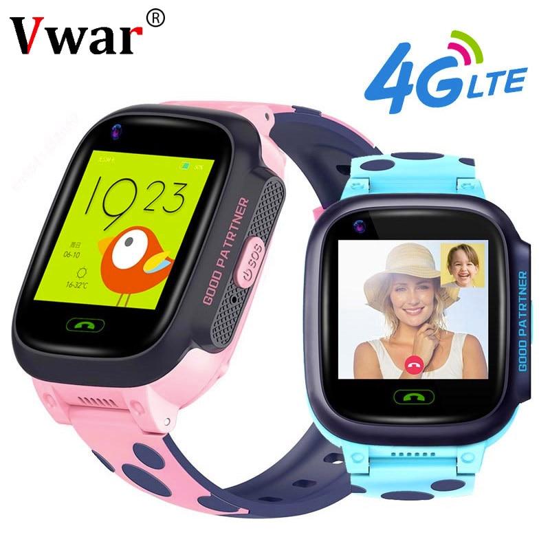 Vwar K9S 4G Crianças GPS Relógio Inteligente chamada de Vídeo Wi-fi Smartwatch SOS Crianças GPS Tracker Câmera do Relógio À Prova D' Água Do Bebê VS Q50 Q90