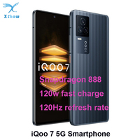 iQOO 7 5G Smart Phone Snapdragon 888  6.62inch 120Hz AMOLED Display 120W Fast Charging  LPDDR 5 UFS 3.1 WIFI 6 Android 11 1