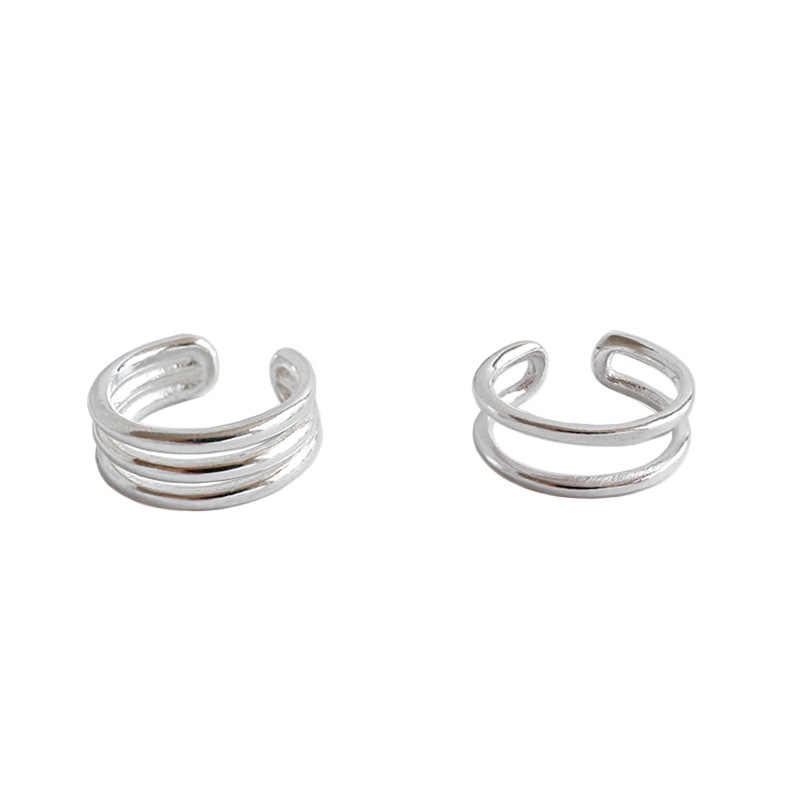 EDS Silver 925 Jewelry Sterling Silver Earring Women Korean Fashion Ear Cuffs Layered Earring Cuff Clip Earrings No Hole