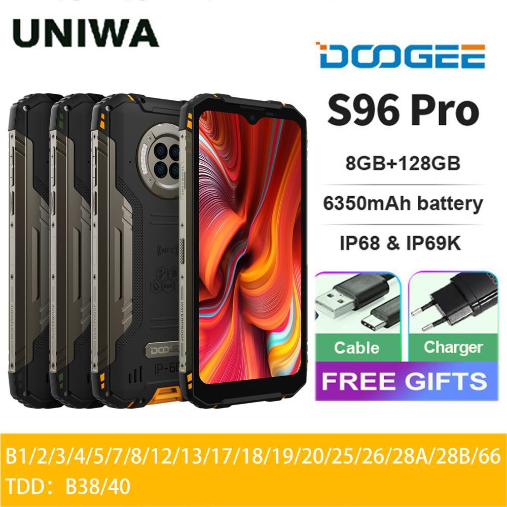 DOOGEE S96 Pro смартфон с 5,5-дюймовым дисплеем, восьмиядерным процессором Helio G90, ОЗУ 8 Гб, ПЗУ 128 ГБ, 6350 мАч