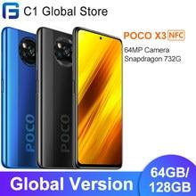 Xiaomi – Smartphone POCO X3, Version globale, NFC, 6 go 64 go/128 go, Snapdragon 732G Octa Core, 6.67 pouces, Pocophone, Quad caméra 64mp, 5160mAh