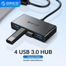 Orico Mini Usb 3.0 Hub 4 Poort Voeding Otg Met Micro Usb Power Interface Voor Macbook Laptop Tablet Computer otg Usb Hub