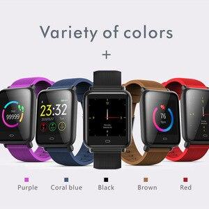 Image 2 - Imosi Q9 Bloeddruk Hartslagmeter Smart Horloge IP67 Waterdichte Sport Fitness Trakcer Horloge Mannen Vrouwen Smartwatch