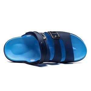 Image 2 - Chinelos de verão dos homens sandálias casuais sapatos de praia respirável sandálias de moda ao ar livre confortável sapatos de borracha esportiva