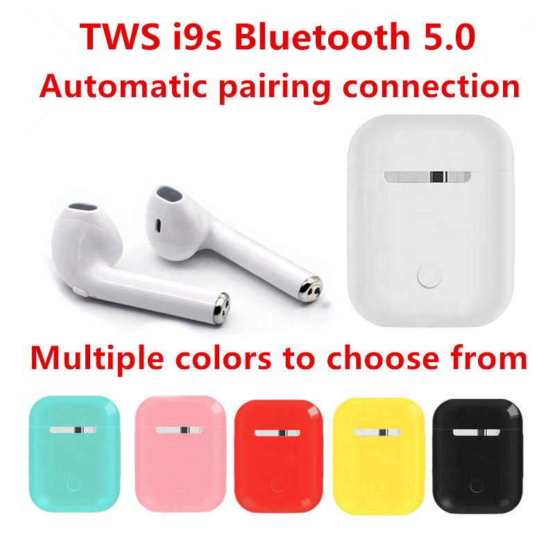 i9s TWS wireless earphone <font><b>Bluetooth</b></font> <font><b>5.0</b></font> HD music headset Business Headphones sports earbuds Works on all Android iOS <font><b>smartphones</b></font> image