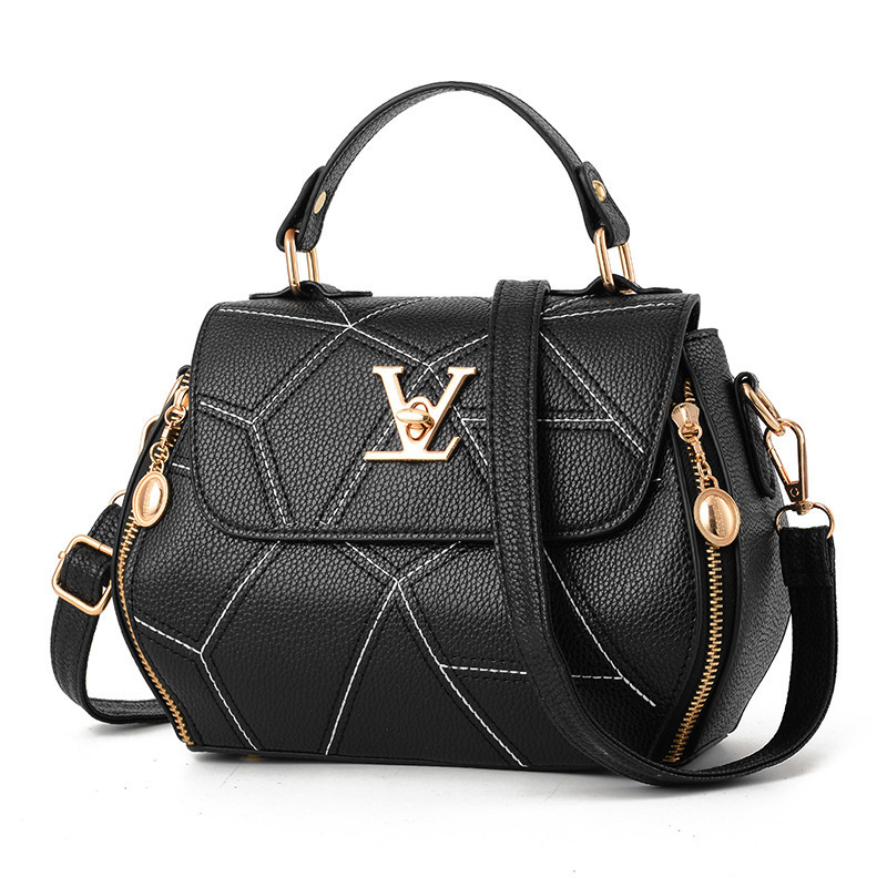 2019 Spring-Summer New Style WOMEN'S Bag Hand Bag Japanese And Korean Style Simple V Square Sling Bag Stylish Shoulder Bag