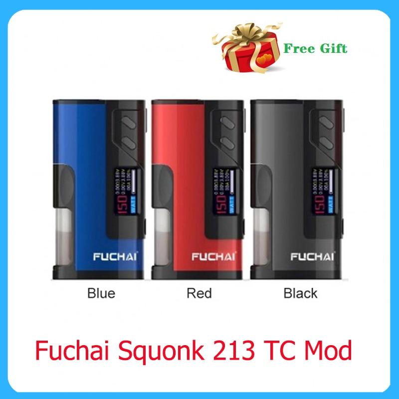 Fuchai Squonk 213 TC Mod 150W Powered By 21700 20700 18650 Battery Electronic Cigarette 510 Thread Atomizer Vape Box Mod
