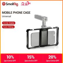 SmallRig Standard Universal Mobile Phone Cage Vloggers Video Shooting Phone Cage Accessories With Cold Shoe Mount  2391